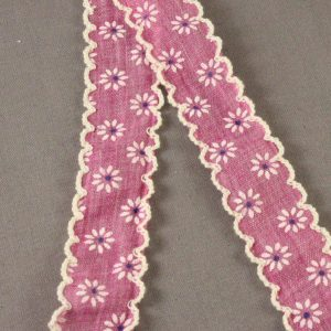 Floral Scalloped Edge Cotton Ribbon