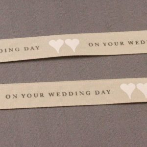 On Your Wedding Day Ribbon