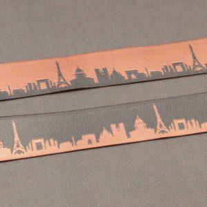 Reversible Paris Skyline Ribbon