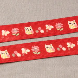 Satin Finish Owl Ribbon