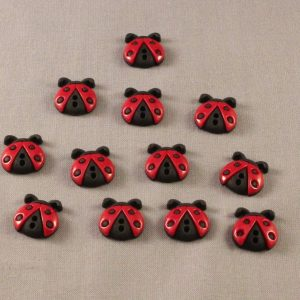 dress it up buttons sew cute ladybugs