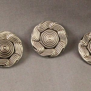 metal shank buttons swirl design